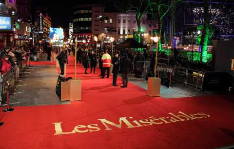 Les Miserables Red Carpet - Specialist bespoke red carpets