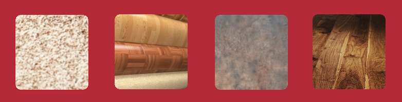 Carpet, Laminate, Tile and wood Flooring samples